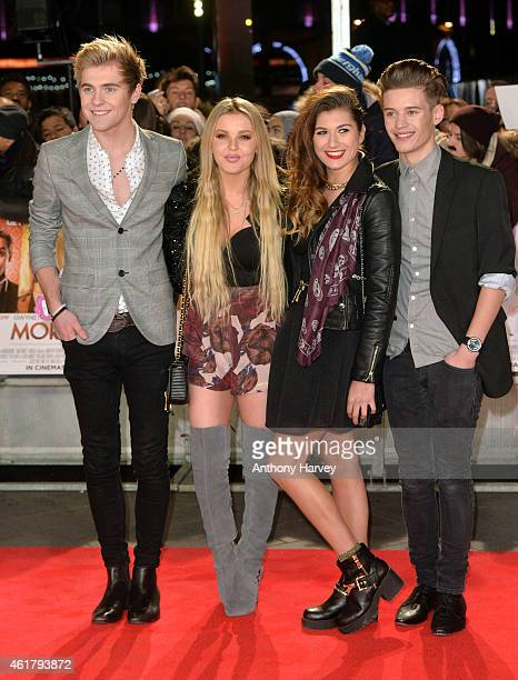 Mikey Bromley BetsyBlue Enlgish Parisa Tarjomani and Charlie George of Only The Young attend the UK Premiere of 'Mortdecai' at Empire Leicester...