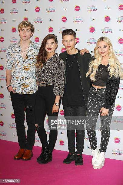 Mikey Bromley Parisa Tarjomani Charlie George and Betsy Blue English of Only The Young attend Lorraine's High Street Fashion Awards at Grand...