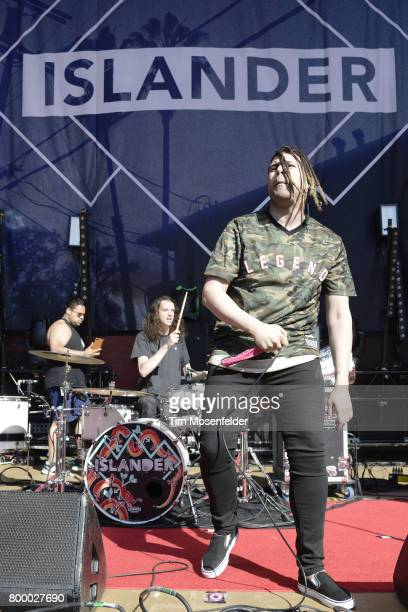 Mikey Carvajal of Islader performs during 'The Serenity of Summer Tour' at Shoreline Amphitheatre on June 22 2017 in Mountain View California