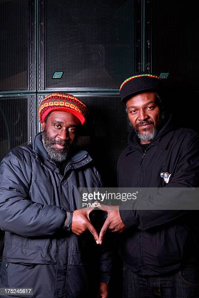 DJ Mikey Dread and MC Ras Kayleb of Channel One sound systems pose for the Dub to Jungle Tour 2011