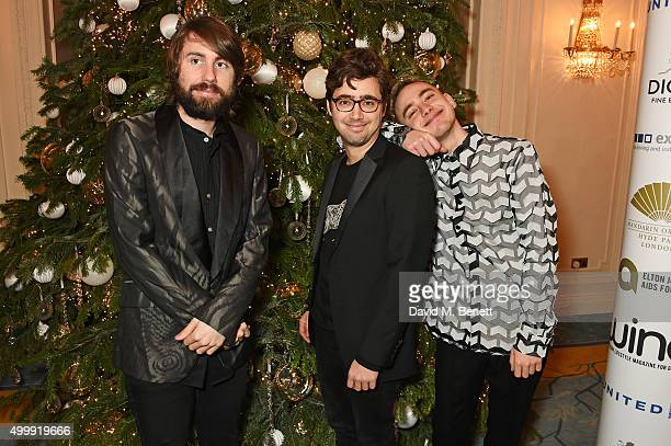 Mikey Goldsworthy Emre Turkmen and Olly Alexander of Years Years attend the Winq Magazine Men of the Year lunch to benefit the Elton John Aids...