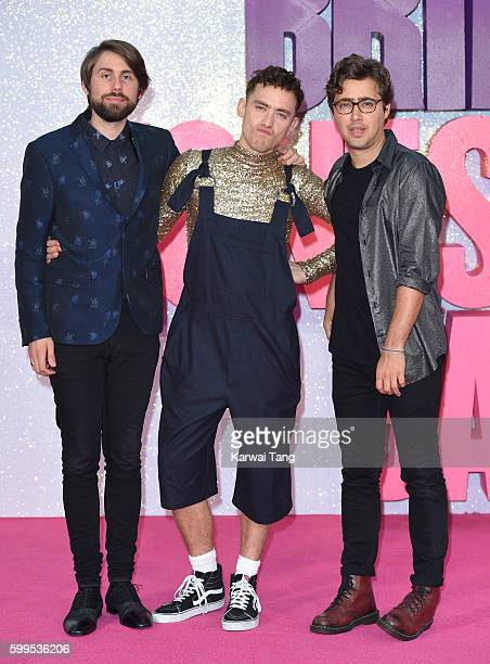 Mikey Goldsworthy Olly Alexander and Emre Turkmen arrive for the World premiere of 'Bridget Jones's Baby' at Odeon Leicester Square on September 5...