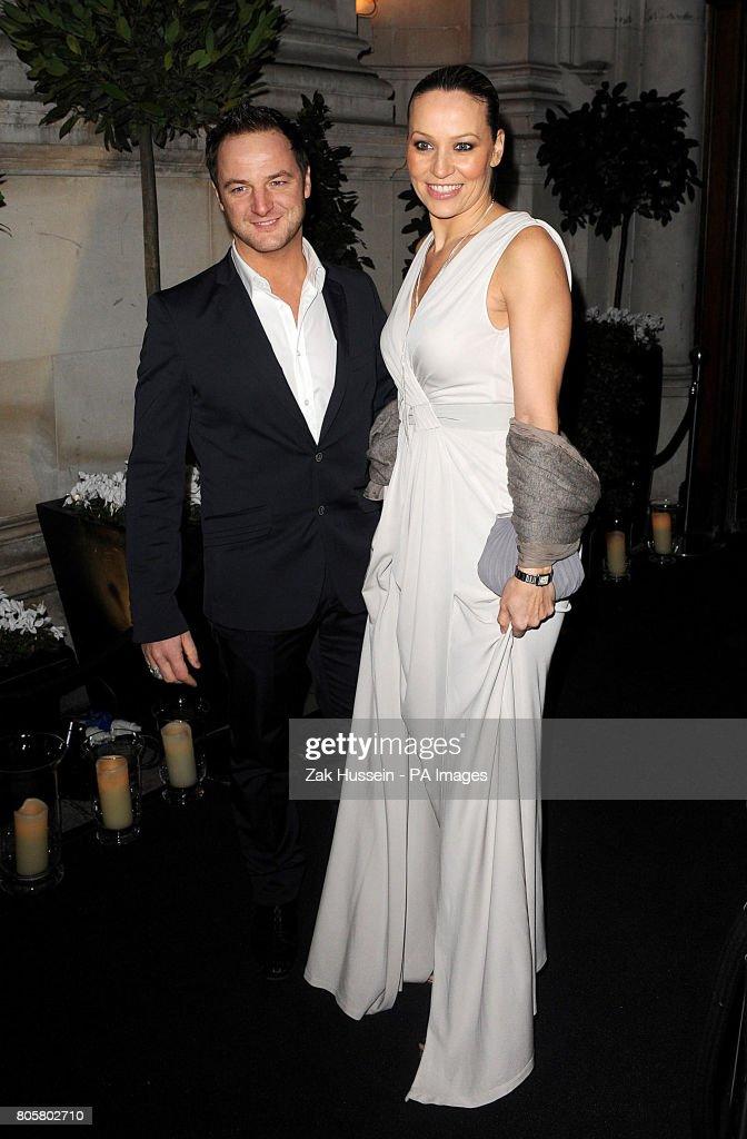 Mikey Graham And Wife Karen Corradi Arrive At Gary Dawn Barlow S 10th Wedding Anniversary