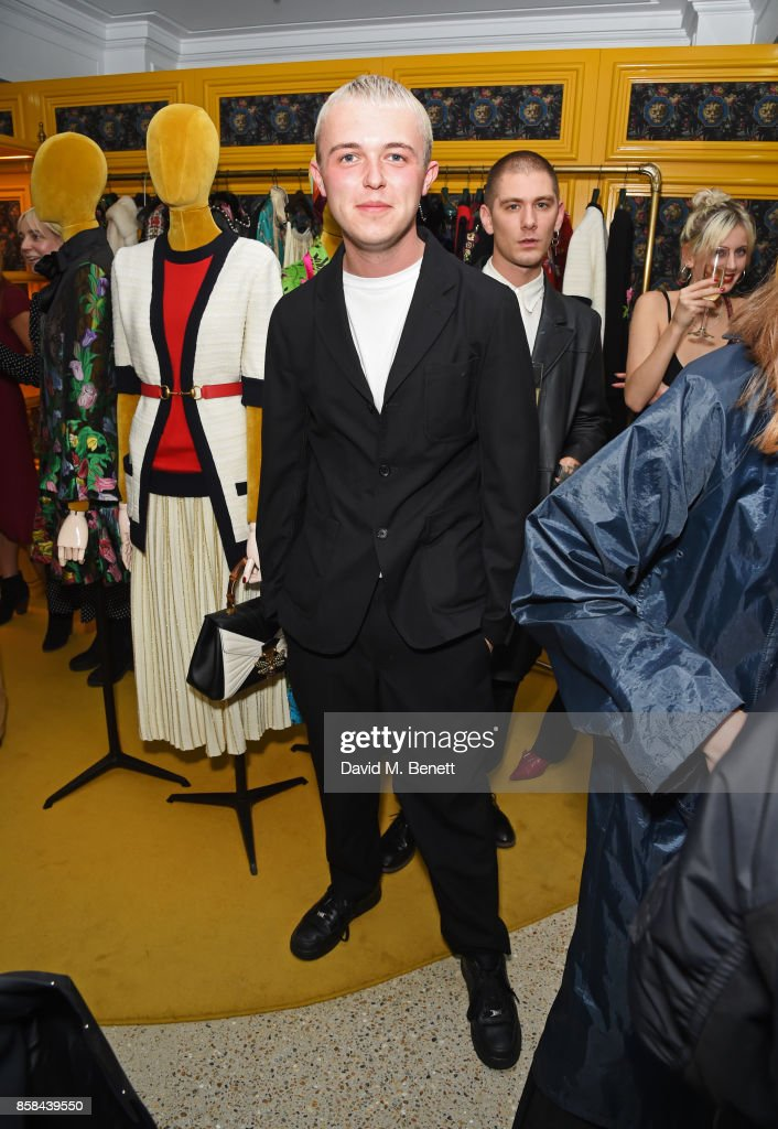 Mikey Pearce attends the Dover Street Market open house on October 6, 2017 in London, England.