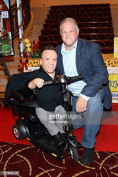 Mikey Post and Abraham Benrubi attend the screening of 'A Country Christmas' at Pacific Theatre at The Grove on November 12 2013 in Los Angeles...