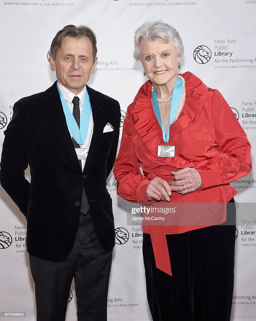 Mikhail Baryshnikov and Angela Lansbury attend The New York Public Library For The Performing Arts' 50th Anniversary Gala at The New York Public Library - Stephen A. Schwarzman Building on February 1, 2016 in New York City.