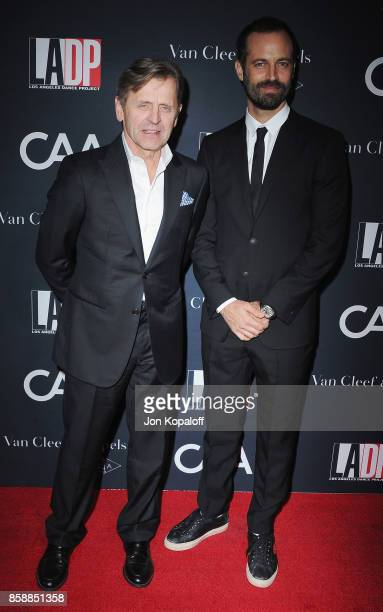 Mikhail Baryshnikov and Benjamin Millepied arrive at the LA Dance Project's Annual Gala at LA Dance Project on October 7 2017 in Los Angeles...