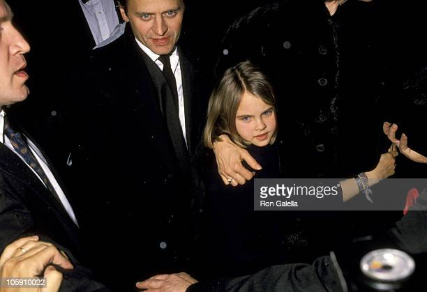 Mikhail Baryshnikov and Daughter Alexandra during 'Men Don't Leave' Screening January 29 1990 at Cinema 1 in New York City New York United States