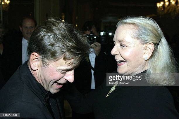 Mikhail Baryshnikov and Lauren Bacall during National Arts Club Celebration for The Stella by Starlight Gala at The Pierre Hotel in New York United...