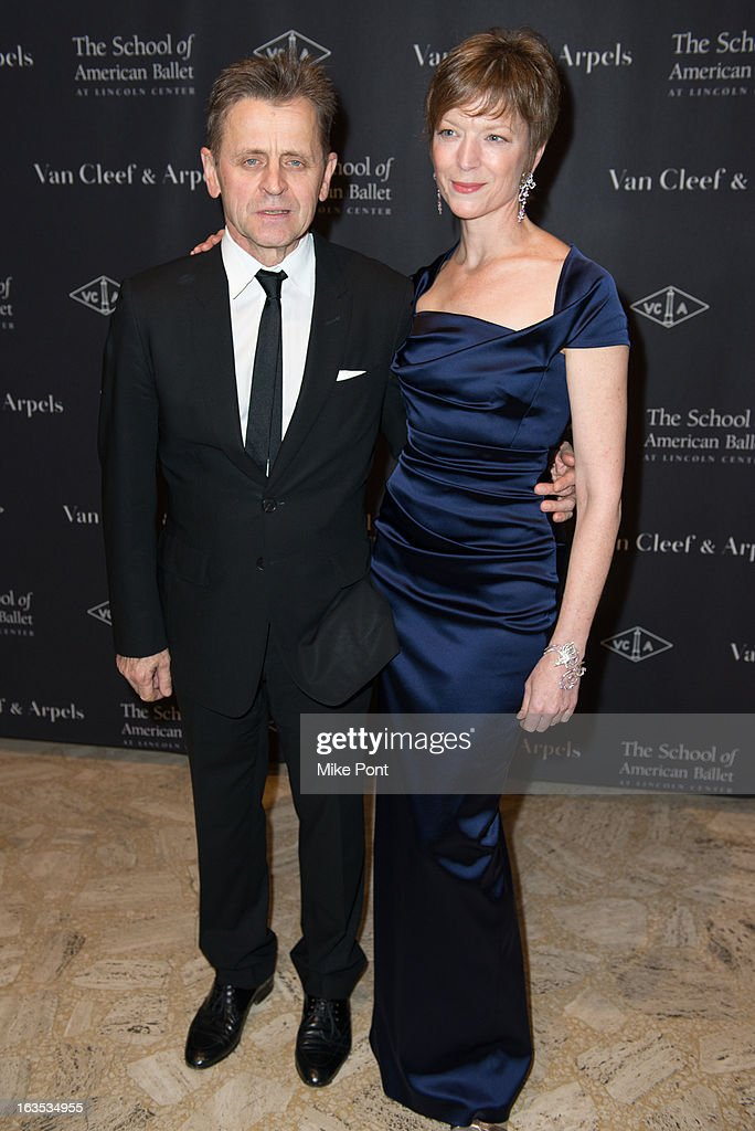 <a gi-track='captionPersonalityLinkClicked' href=/galleries/search?phrase=Mikhail+Baryshnikov&family=editorial&specificpeople=204507 ng-click='$event.stopPropagation()'>Mikhail Baryshnikov</a> and Lisa Rinehart attend the School of American Ballet 2013 Winter Ball at David H. Koch Theater, Lincoln Center on March 11, 2013 in New York City.