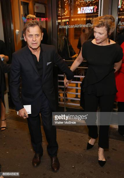 Mikhail Baryshnikov and wife Lisa Rinehart attend the Broadway Opening Night performance of The Roundabout Theatre Company production of 'Time and...