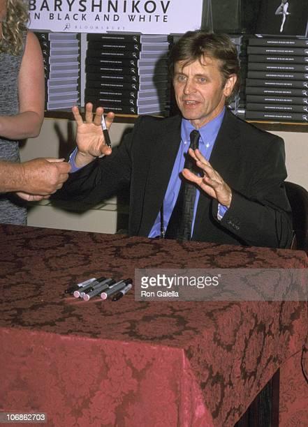 Mikhail Baryshnikov during Mikhail Baryshnikov's Book Signing of 'Baryshnikov in Black White' at Barnes Nobles Bookstore in New York City New York...