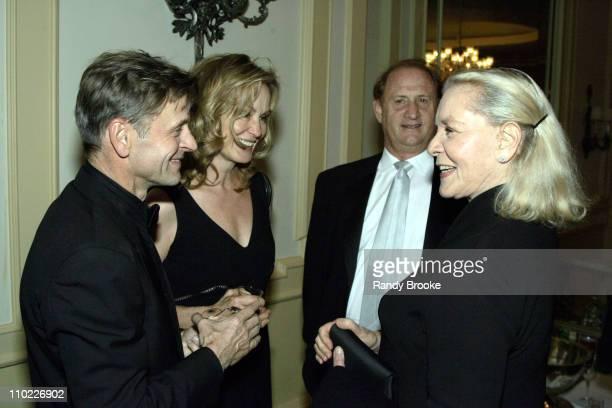 Mikhail Baryshnikov Jessica Lange Michael Medavoy and Lauren Bacall