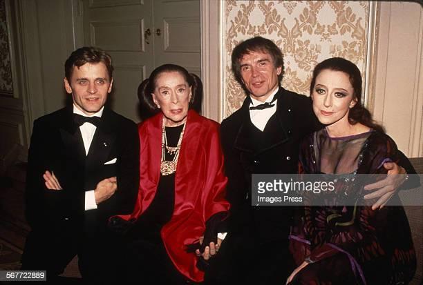 Mikhail Baryshnikov Martha Graham Rudolf Nureyev and Maya Plisetskaya attends the Martha Graham Celebration circa 1987 in New York City