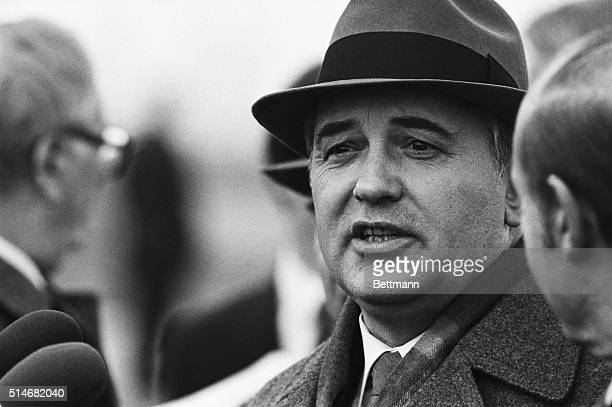 Mikhail Gorbachev arrives in London for an official tour of Britain in 1984 shortly before he became the leader of the Soviet Union