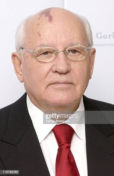 Mikhail Gorbachev during Raisa Gorbachev Foundation – Arrivals at Althorp in Althorp Northamptonshire Great Britain