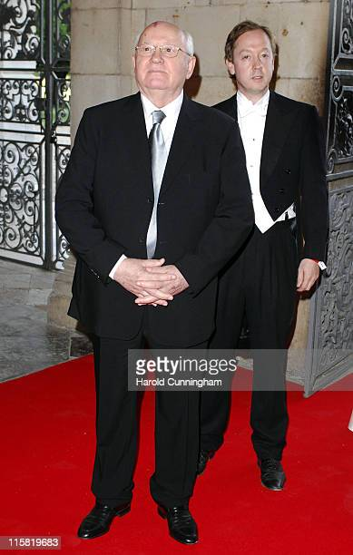 Mikhail Gorbachev during Raisa Gorbachev Foundation Party – Red Carpet at Stud House Hampton Court Palace in Richmond upon Thames Great Britain