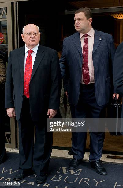 Mikhail Gorbachev leaves the Westbury Hotel on his way to the Raisa Gorbachev Foundation Party on June 5 2010 in London England