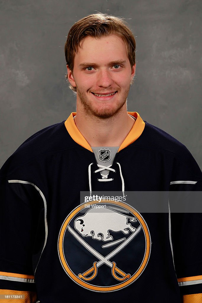 <a gi-track='captionPersonalityLinkClicked' href=/galleries/search?phrase=Mikhail+Grigorenko&family=editorial&specificpeople=8771251 ng-click='$event.stopPropagation()'>Mikhail Grigorenko</a> of the Buffalo Sabres poses for his official headshot for the 2013-2014 season on September 11, 2013 at the First Niagara Center in Buffalo, New York.