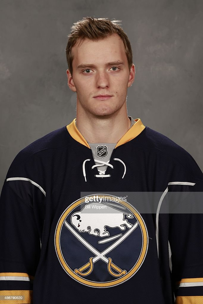 <a gi-track='captionPersonalityLinkClicked' href=/galleries/search?phrase=Mikhail+Grigorenko&family=editorial&specificpeople=8771251 ng-click='$event.stopPropagation()'>Mikhail Grigorenko</a> of the Buffalo Sabres poses for his official headshot for the 2014-2015 season on September 18, 2014 at the First Niagara Center in Buffalo, New York.