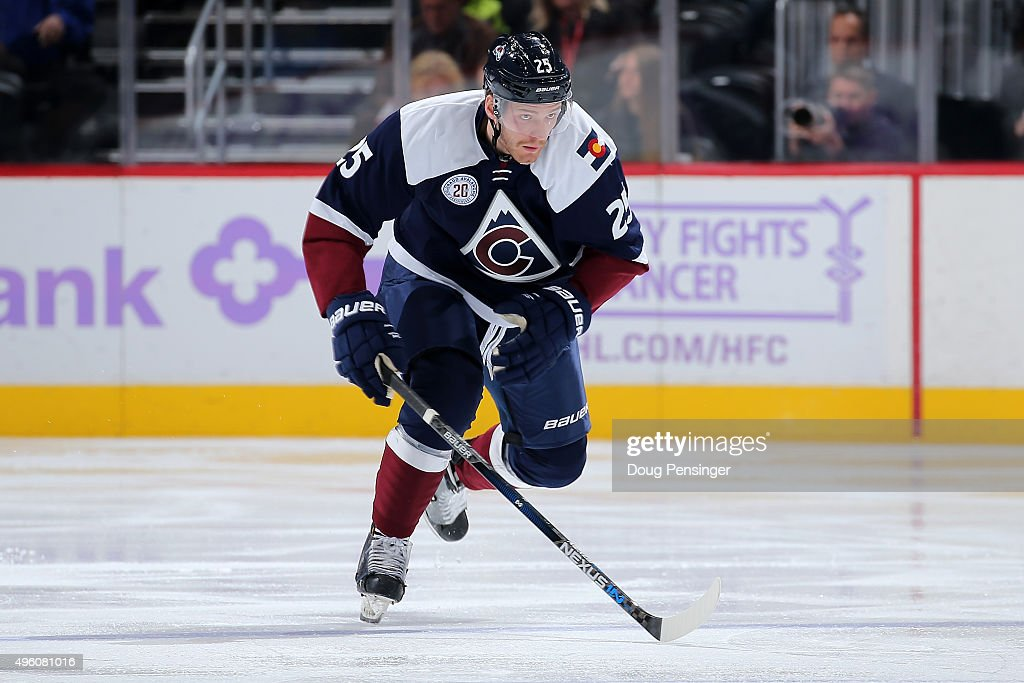 <a gi-track='captionPersonalityLinkClicked' href=/galleries/search?phrase=Mikhail+Grigorenko&family=editorial&specificpeople=8771251 ng-click='$event.stopPropagation()'>Mikhail Grigorenko</a> #25 of the Colorado Avalanche skates against the New York Rangers at Pepsi Center on November 6, 2015 in Denver, Colorado. The Rangers defeated the Avlanche 2-1.