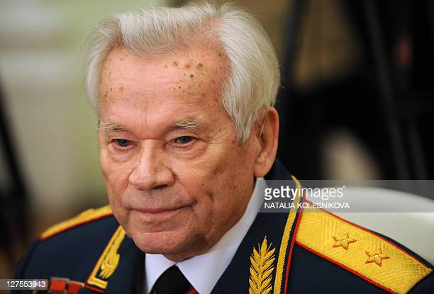 Mikhail Kalashnikov the Russian inventor of the globally popular AK47 assault rifle attends festivities to celebrate his 90th birthday at the Kremlin...