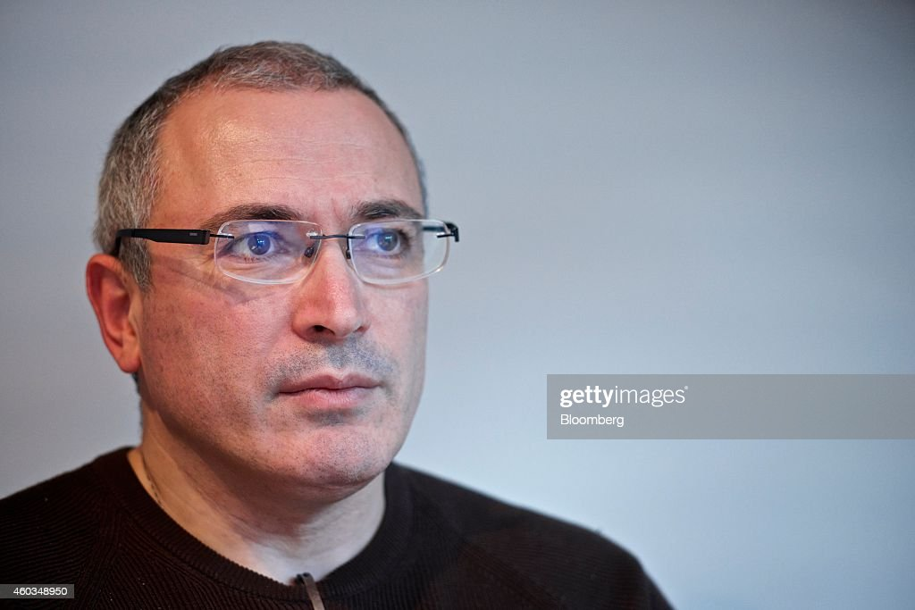 <a gi-track='captionPersonalityLinkClicked' href=/galleries/search?phrase=Mikhail+Khodorkovsky&family=editorial&specificpeople=224938 ng-click='$event.stopPropagation()'>Mikhail Khodorkovsky</a>, former oil tycoon and main owner of Yukos Oil Co., pauses during a Bloomberg Television interview in Zurich, Switzerland, on Thursday, Dec. 11, 2014. Almost a year into his freedom, Khodorkovsky insists the tide is turning against Russian President Vladimir Putin as the Russian economy heads into recession. Photographer: Gianluca Colla/Bloomberg via Getty Images