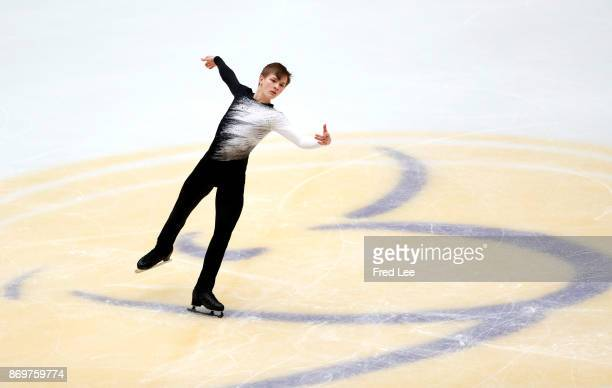 Mikhail Kolyada of Russia competes in the Men's Short Program on day one of the ISU Grand Prix of Figure Skating at on November 3 2017 in Beijing...