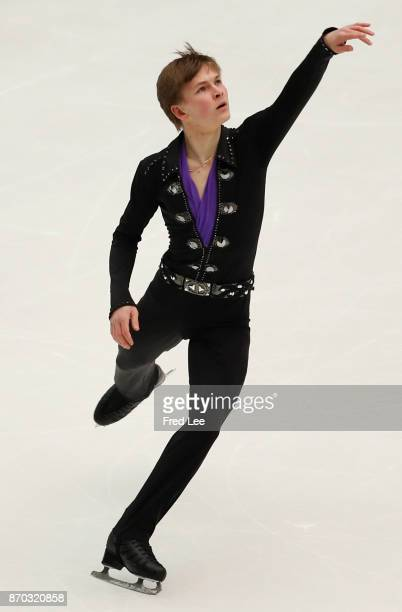 Mikhail Kolyada of Russia performs during Men's Singles free skating on Day 2 of the ISU Grand Prix of Figure Skating 2017 at Beijing Capital...
