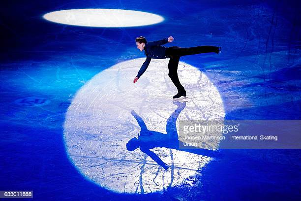 Mikhail Kolyada of Russia performs in the gala exhibition during day 5 of the European Figure Skating Championships at Ostravar Arena on January 29...