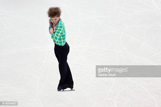Mikhail Kolyada of Russia skates in the Men's Short program during day 3 of the ISU World Figure Skating Championships 2016 at TD Garden on March 30...