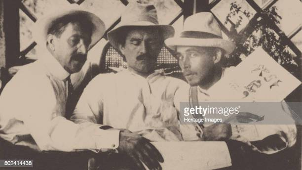 Mikhail Matyushin Kazimir Malevich and Aleksei Kruchenykh at Uusikirkko Finland in July 1913 1913 Found in the collection of Russian State Archive of...