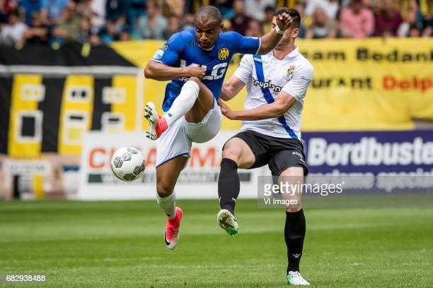 Mikhail Rosheuvel of Roda JC Matt Miazga of Vitesseduring the Dutch Eredivisie match between Vitesse Arnhem and Roda JC Kerkrade at Gelredome on May...