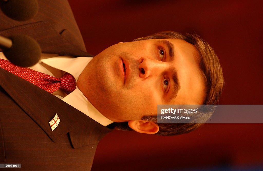 Mikhail Saakashvili New President Of Georgia. Le nouveau président géorgien Mikhaïl SAAKACHVILI en visite à