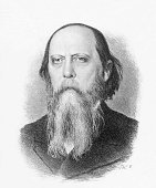 Mikhail SaltykovShchedrin *2701182610051889 writer Russia date unknown drawing by W Surianinov