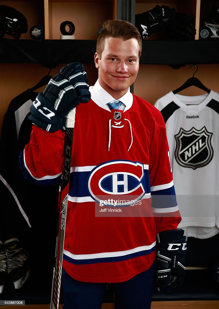 Mikhail Sergachev, selected ninth overall by the Montreal Canadiens, poses for a portrait during round one of the 2016 NHL Draft at First Niagara Center on June 24, 2016 in Buffalo, New York.