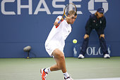 Mikhail Youzhny during his quarterfinals match against Rafael Nadal at the 2006 US Open at the USTA Billie Jean King National Tennis Center in...