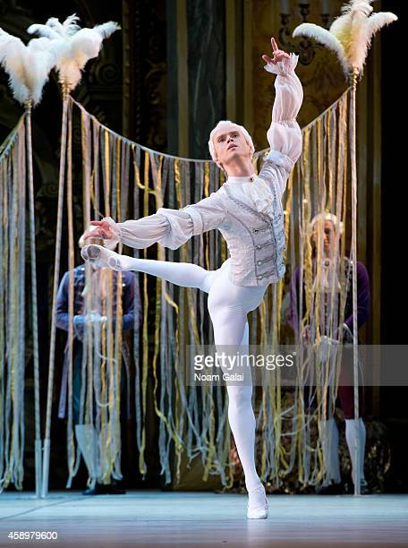 Mikhailovsky Ballet dancers perform a scene from 'The Flames Of Paris' during dress rehearsal at David H Koch Theater at Lincoln Center on November...