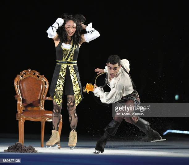 Miki Ando and Javier Fernandez perform during the Fantasy on Ice at Makuhari Event Hall on May 26 2017 in Chiba Japan