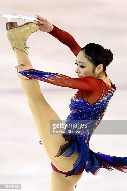 Miki Ando competes in the Ladies Free Program during the East Japan Figure Skating Championships at Gunma Prefecture Sports Center Ice Arena on...