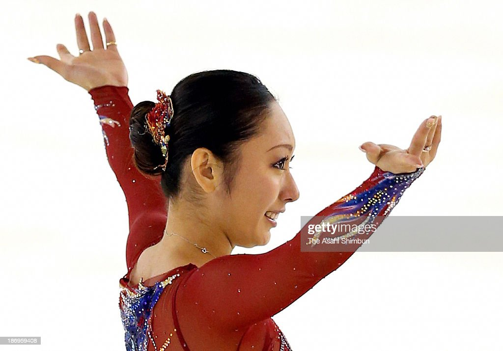 Miki Ando competes in the Ladies Free Program during the East Japan Figure Skating Championships at Gunma Prefecture Sports Center Ice Arena on November 4, 2013 in Maebashi, Gunma, Japan.