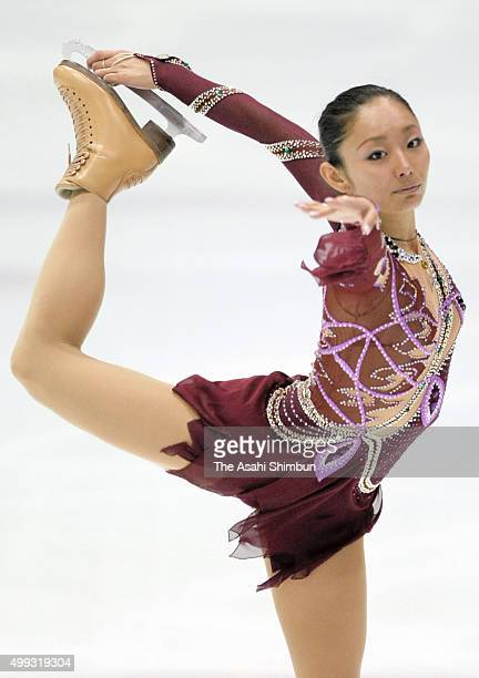 Miki Ando of Japan competes in the Ladies Short Program during the International Counter Match Figure Skating Competition USA vs JPN at Shin Yokohama...