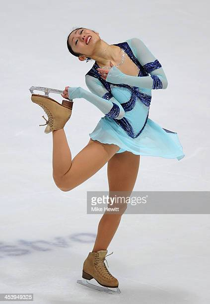 Miki Ando of Japan in action in the Ladies Short Program during Day Two of the ISU 46th Golden Spin of Zagreb at the Dom Sportova on December 6 2013...