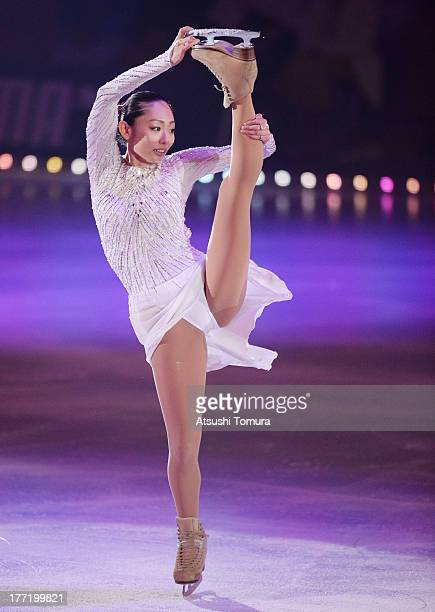 Miki Ando of Japan performs during 'Friends on Ice 2013' at ShinYokohama Skate Center on August 22 2013 in Yokohama Japan