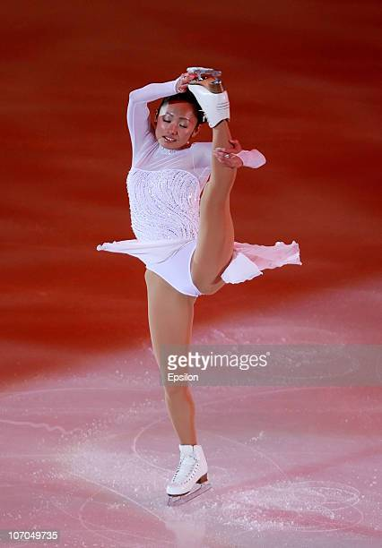 Miki Ando of Japan performs in the Gala Exhibition during of the ISU Grand Prix of Figure Skating 2010/2011 Cup of Russia at Megasport Sport Palace...