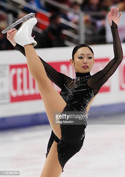 Miki Ando of Japan skates in the Ladies Free Skating during day seven of the 2011 World Figure Skating Championships at Megasport Ice Rink on April...