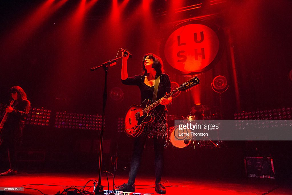 Miki Berenyi of Lush performs at The Roundhouse on May 06, 2016 in London, England.