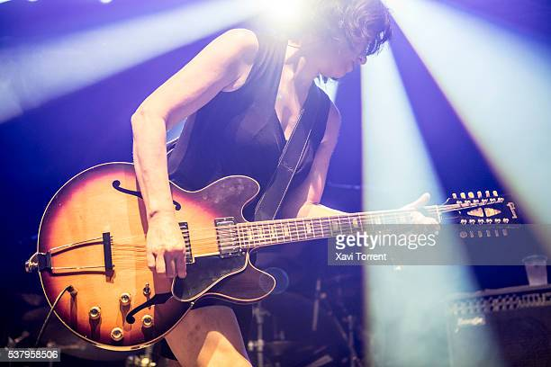 Miki Berenyi of Lush performs in concert during the third day of Primavera Sound 2016 on June 3 2016 in Barcelona Spain