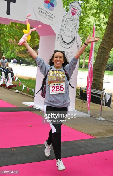 Miki HainesSanger attends the Lady Garden 5K 10K Run in aid of Silent No More Gynaecological Cancer Fund in Hyde Park on May 13 2017 in London England