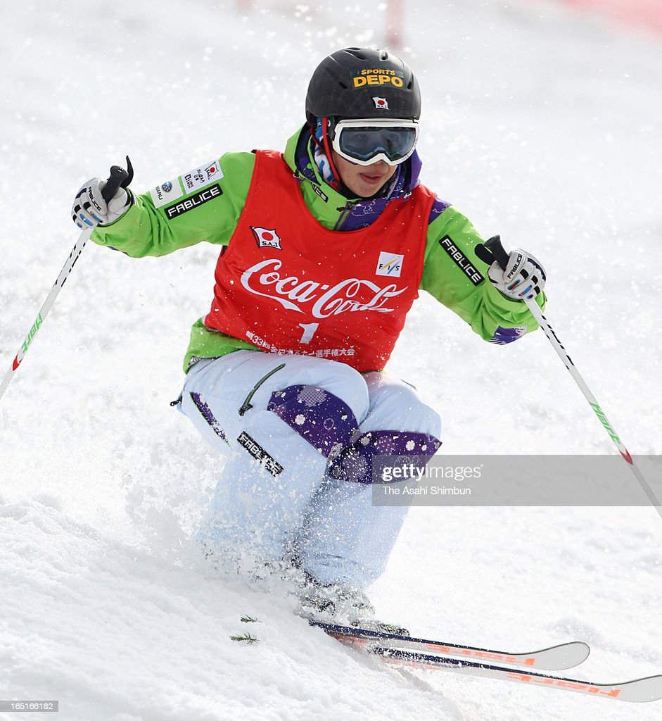 Miki Ito competes in the Women's Mogul during day one of the 33rd All Japan Ski Championships Mogul at Taira Ski Resort on March 30, 2013 in Nanto, Toyama, Japan.